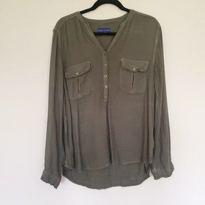 Simply Styled green blouse long sleeve XL